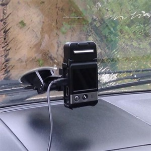F500L Standar Mount attached to bottom of windshield