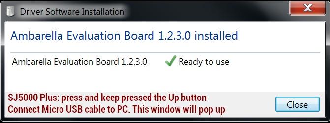 Install SJCam driver on PC