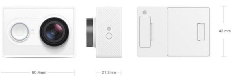 Xiaomi Yi Dimensions