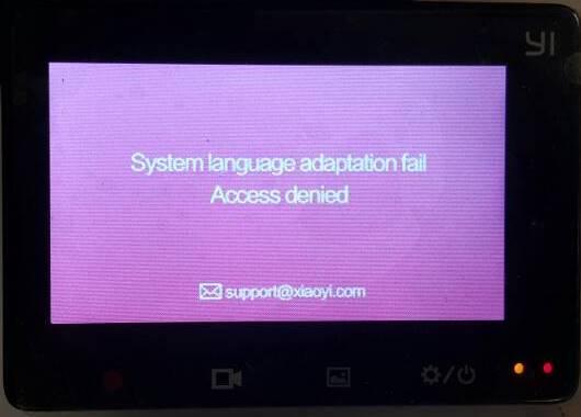 System Language Adaptation Fail