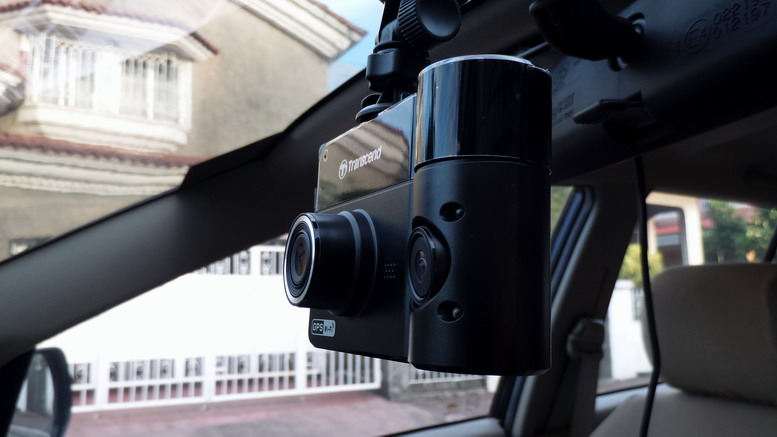 Transcend DrivePro 520 Mounted